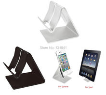Universal Premium Aluminum Metal Mobile Phone Tablet Desk Holder Stand for iPhone 6 Samsung note 2 3 4 HTC celular carro Tablets