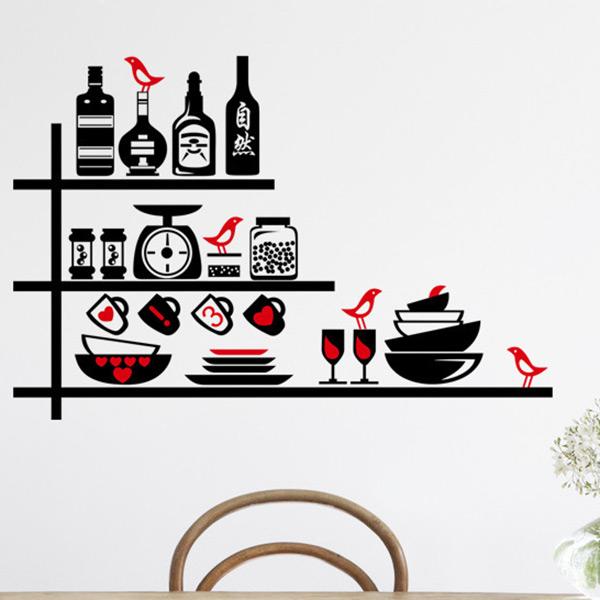 Wine Kitchen Wall Stickers