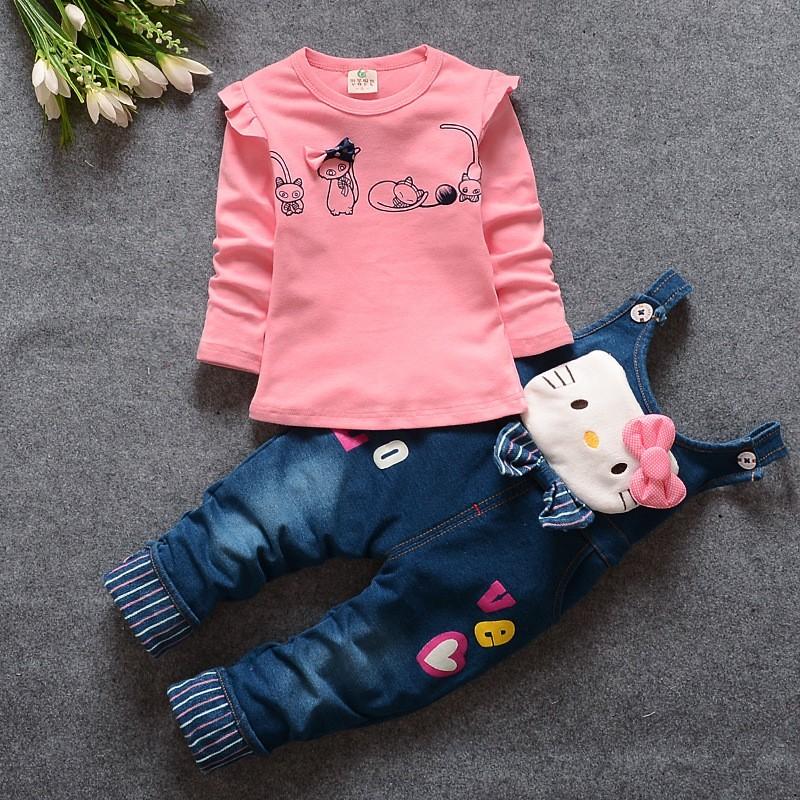 fca2bbacadc6 2019 BibiCola 2017 Spring Autumn Baby Girls Clothing Set Casual Long ...