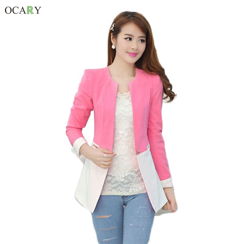 Длинный рукав женщины офис блейзеры женское пиджаки пальто одна пуговица женщины рабочий jaqueta feminina