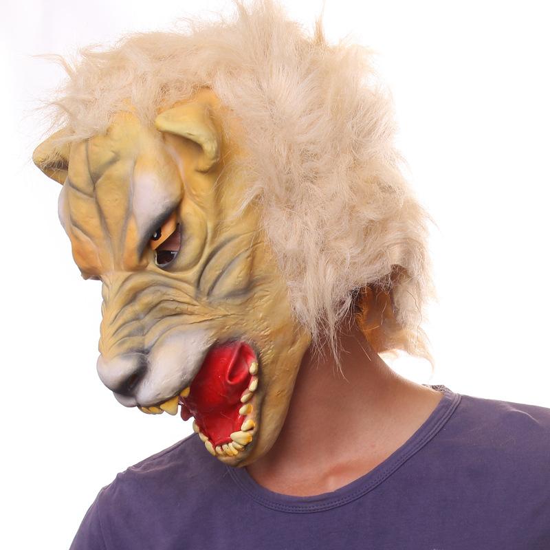 13645e9fb3ae Wholesale-Adult Leopard Latex Mask Halloween Cheetah Jungle Zoo Animal  Costume