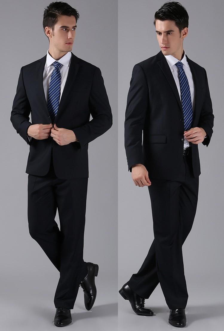 (Kurtki + Spodnie) 2016 Nowych Mężczyzna Garnitury Slim Fit Niestandardowe Garnitury Smokingi Marka Moda Bridegroon Biznes Suknia Ślubna Blazer H0285 38