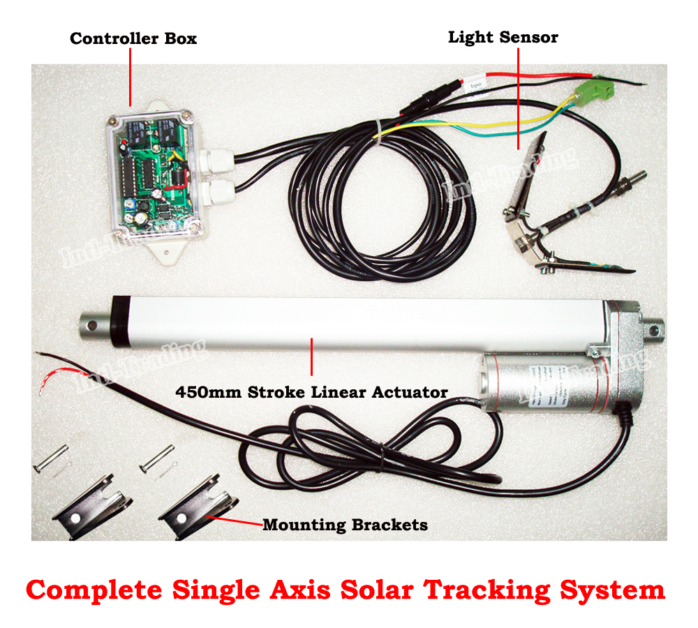Complete 1KW Single Axis PV Solar Panel Tracking System ...