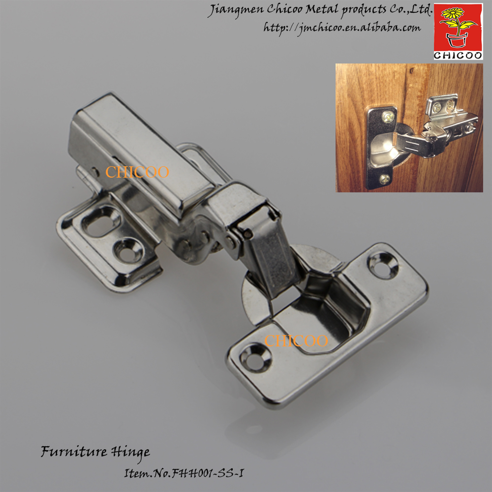 Door Hinge Stainless Steel 304 Embed Hydraulic Furniture Conceal Adjule Inset Kitchen Cabinet Hinges