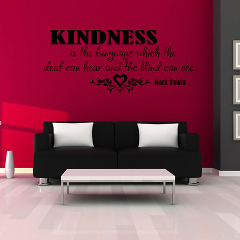 Kindness Is The Language Lettering Words Wall Art Decal Vinyl Wall Sticker  Mural Home Decor Inspiration ~ Inspiration Home Decor ~ Olivia Decor - decor  for ... 7d9609164de2