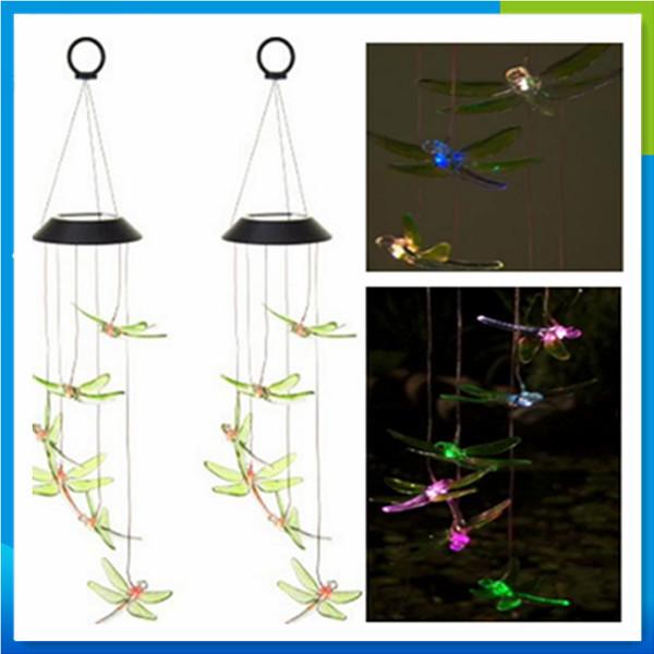 Handmade Hummingbird Electric Wind Chime With Solar