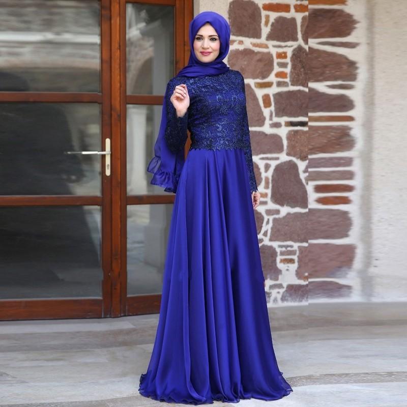 Elegant Long Sleeve Wedding Dresses Muslim Dress 2015: Aliexpress.com : Buy 2015 Muslim Evening Dresses A Line