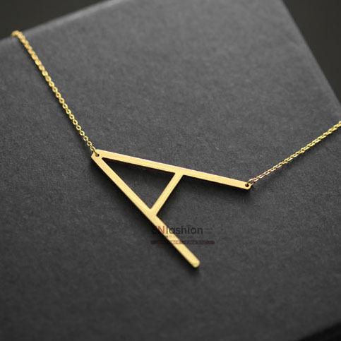 Original Design 18kgp Gold Color Letter Alphabet Pendant