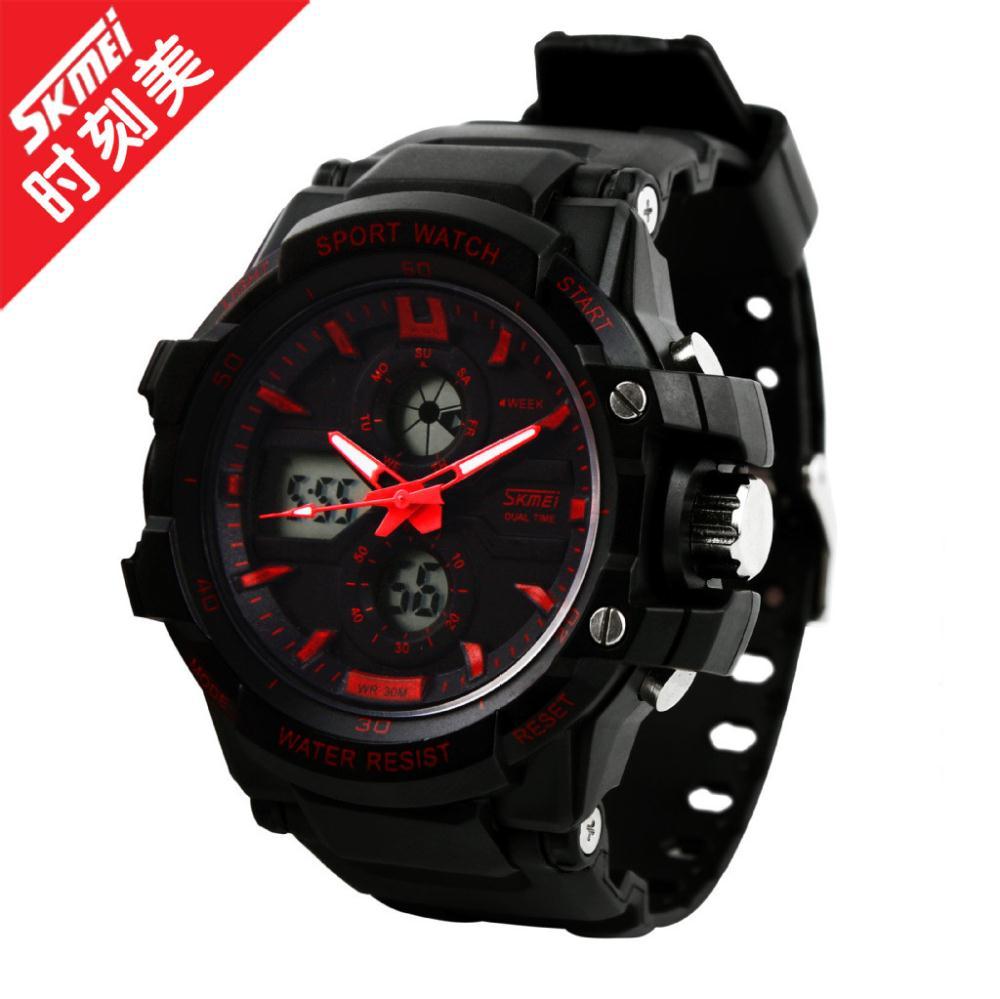 Старший модные мужские случайные спортивные часы Мужские люксовый бренд LED цифровые часы кварцевые вибрации мужские часы наручные часы Reloj Homebre