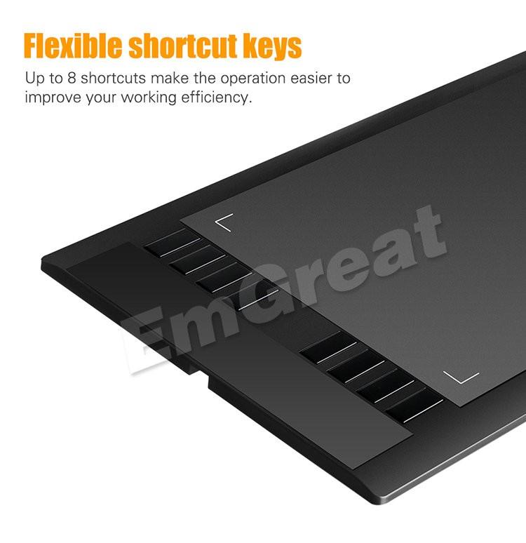גרפיקה חדשה ציור לוח UGEE M1000L משטח הלוח עם 2048 רמת עט דיגיטלי טוב כמו Ugee M708 P0016333 משלוח חינם