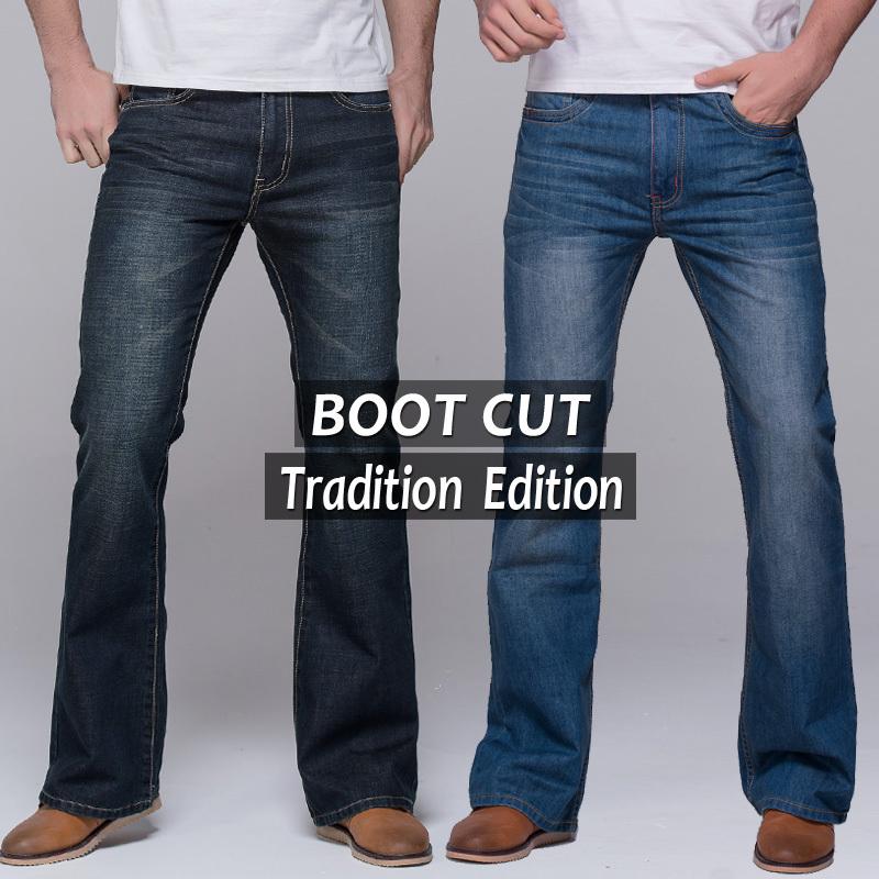 Mens Slim Fit Bootcut Jeans
