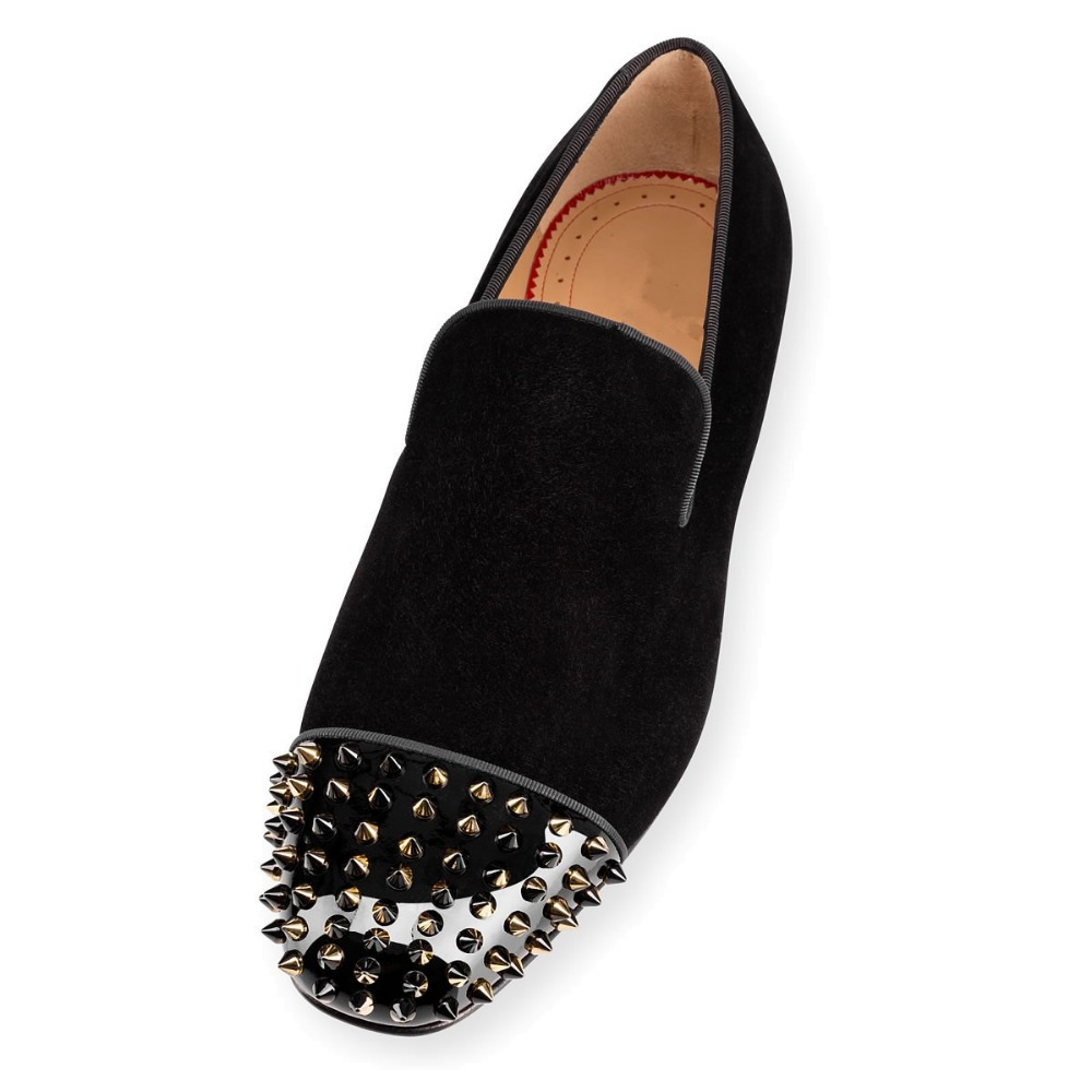 Mens Spiked Loafers Cheap Fake Christian Louboutin