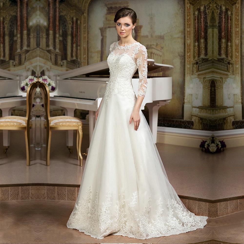 Simple Cheap Elegant Long Sleeves Wedding Dresses Lace: Simple Elegant Lace Wedding Dress_Wedding Dresses_dressesss