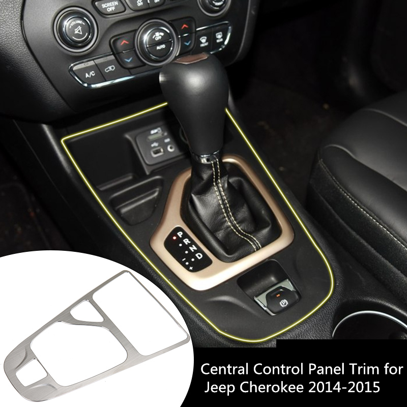 1Pcs Interior Chrome Parts Car Center Console Control ...
