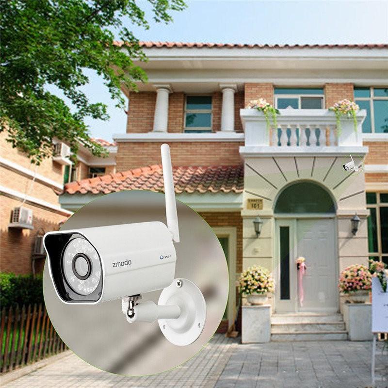 Waterproof Zmodo ZP-IBH13-W 720P DC 12V 1A Wireless Wifi Network Security  Camera IP Camera Webcam IR Night Vision