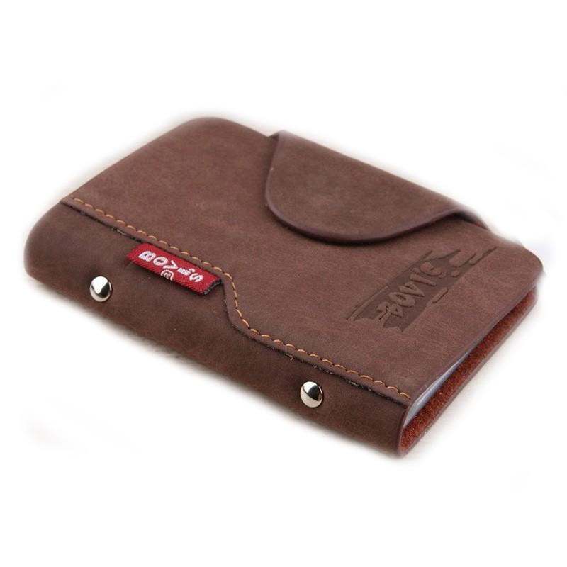 Bovis Leather Business Card Holder Vintage Credit Card Holder Hasp