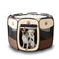 Portable Folding Pet Tent Play Pen <font><b>Dog</b></font> Sleeping Fence Puppy Kennel Folding Exercise Play Foldable Pet <font><b>Dog</b></font> House Outdoor Tent Bag