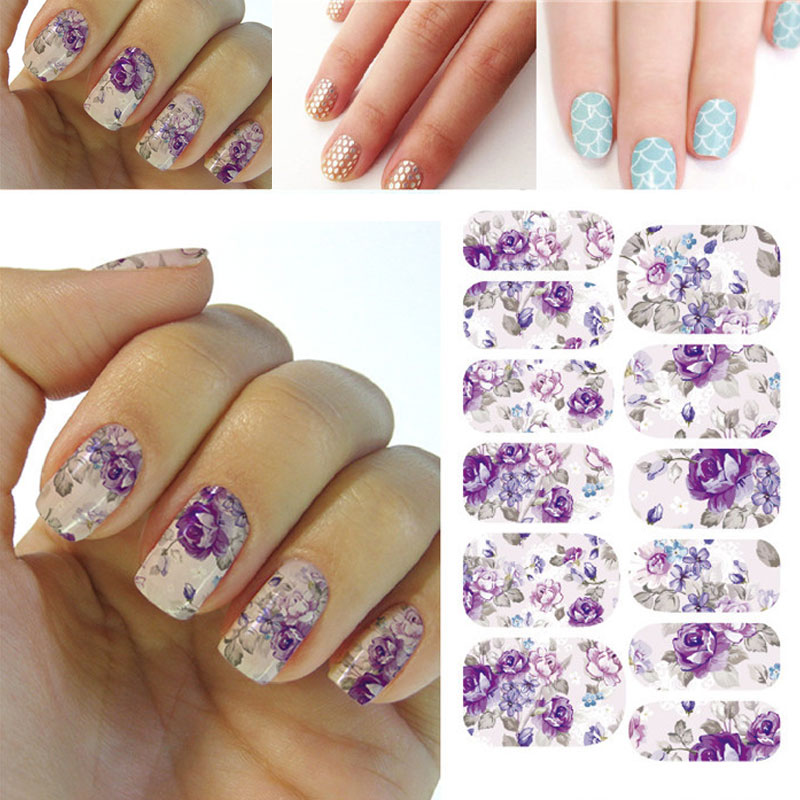 Nail Art Design Sheets Nails Polish Colour Color Flower Hot Designs Watermark Nail Stickers Temporary Tattoos Diy Tips Nail Art Decals Manicure Beauty Tools Click On The Pin To Check Out Discount