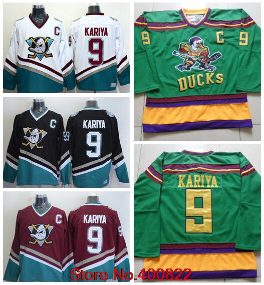 5dea58bba mens mighty ducks of anaheim 9 paul kariya 1991 92 green ccm vintage ...
