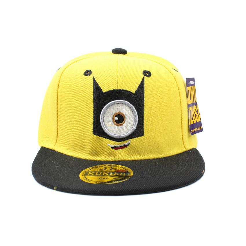 Children s baseball cap small yellow man eye cartoon hip hop hat male girl flat sun
