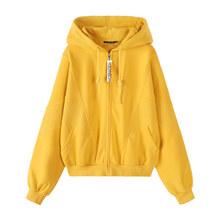 Женская свободная куртка SEMIR, Свободная трикотажная куртка с капюшоном, хлопковая верхняя одежда, осень 2019(Китай)