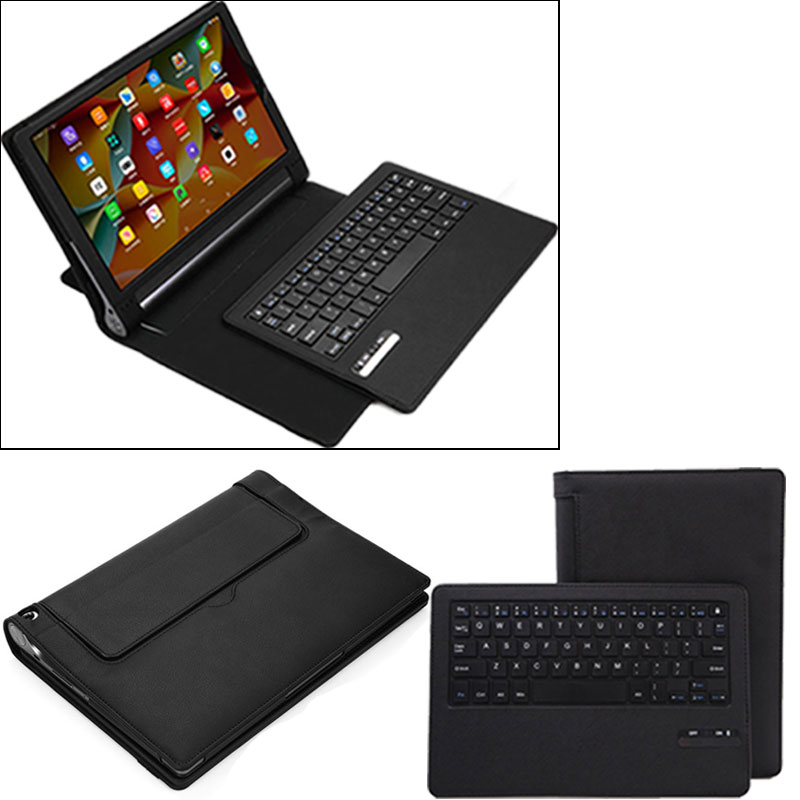 sale retailer 2c666 0f633 US $32.27 15% OFF|New Portable Tablet Case Business Bluetooth Keyboard with  PU Leather Case Cover For Lenovo Yoga Tab 3 Pro 10.1 EM88-in Keyboards ...