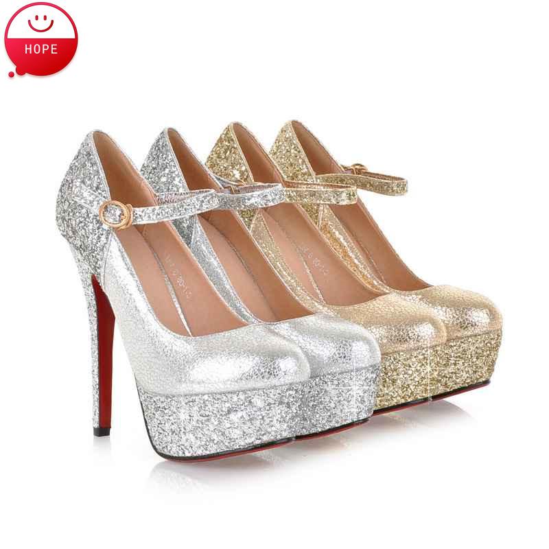 0d90ca407e54 Online Get Cheap Silver Glitter Pumps -Aliexpress.com