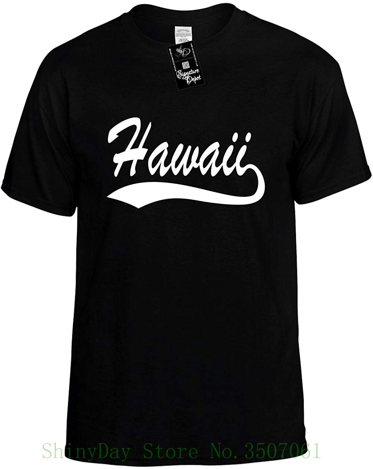 b4dc374da9e4 Mens Funny T Shirt Hawaii Baseball Font Hawaiian Unisex Shirt 2018 ...