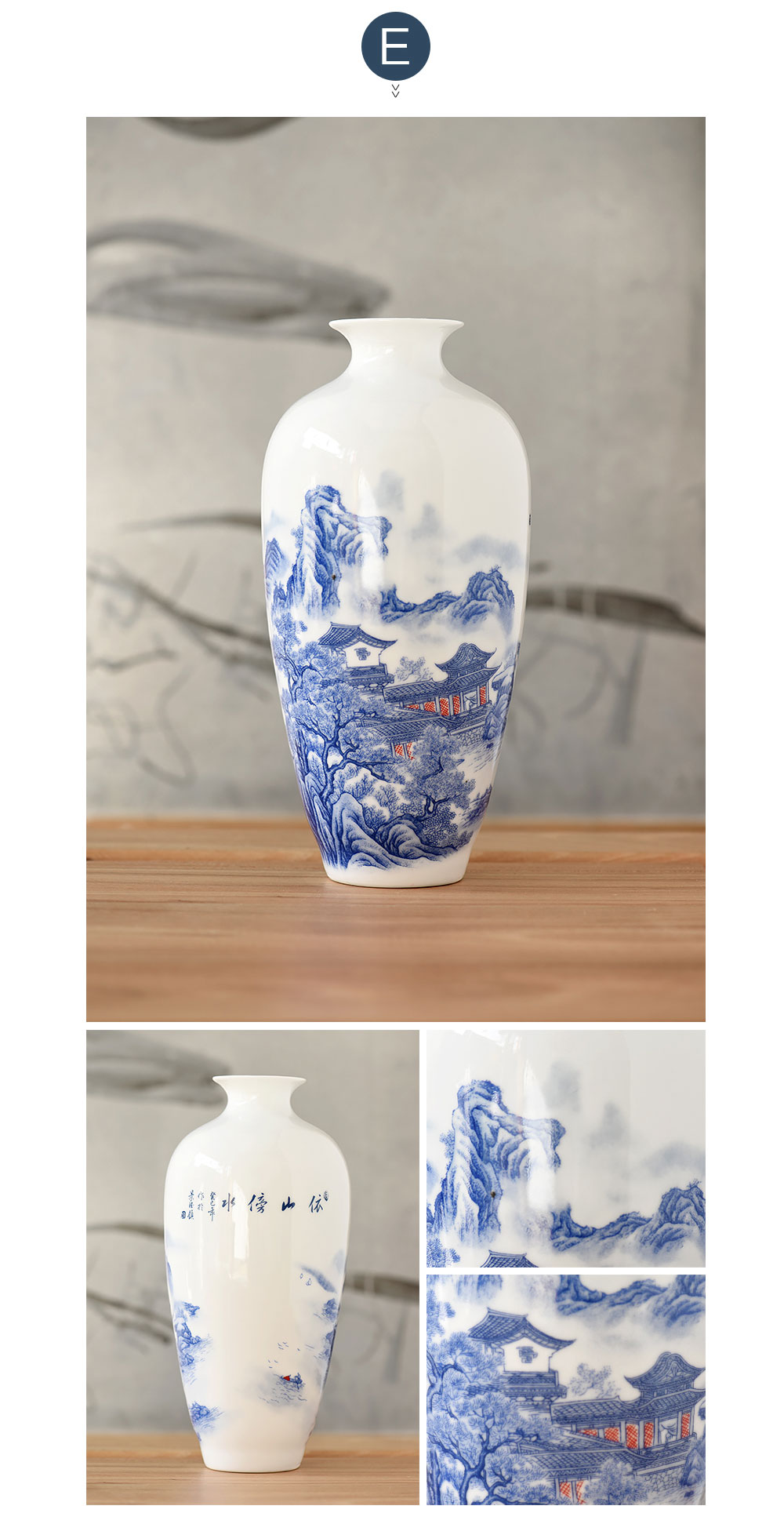 Jingdezhen Antique China Porcelain Classical Chinese Vase