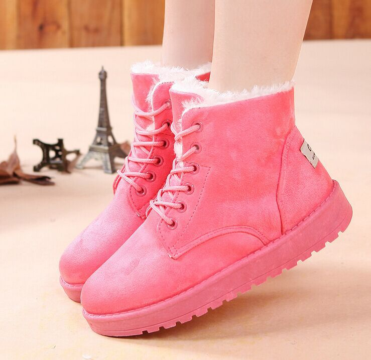 women boots 2015 Ladies winter shoes flat heel ankle boots