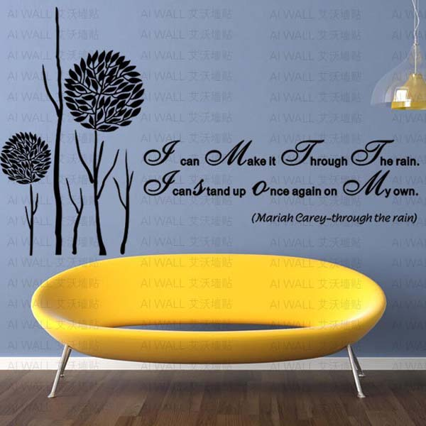 English inspirational proverbs phrase DIY Removable Art Vinyl Quote Wall Sticker Decal Mural Home decoration