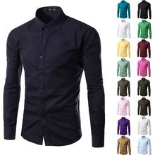 BRAND UUYUK 2013 Mens Slim fit Unique neckline stylish Dress long Sleeve Shirts Mens dress shirts 17colors ,size: M-XXXL 6492