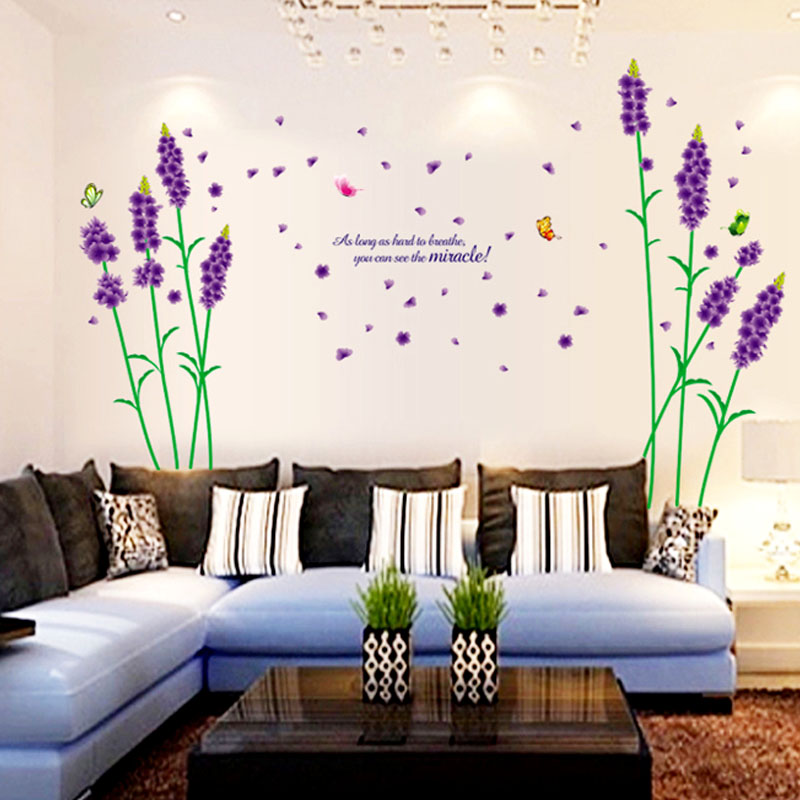 Romantic Bedroom Wall Decor: Modern New Wall Sticker Removable Romantic Home Decor