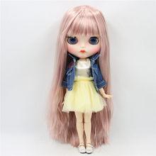Заводская кукла blyth 1/6 кутом кукла белая кожа суставы тела индивидуальные лица бровей игрушка кукла, 30 см(Китай)