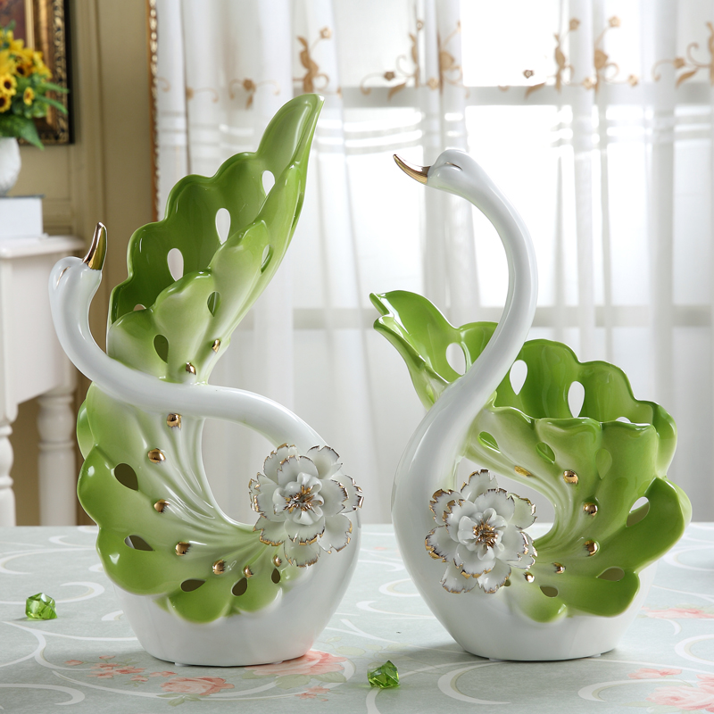 Swan grade ceramic ornaments wedding gift ideas modern minimalist hollow home Decoration Crafts