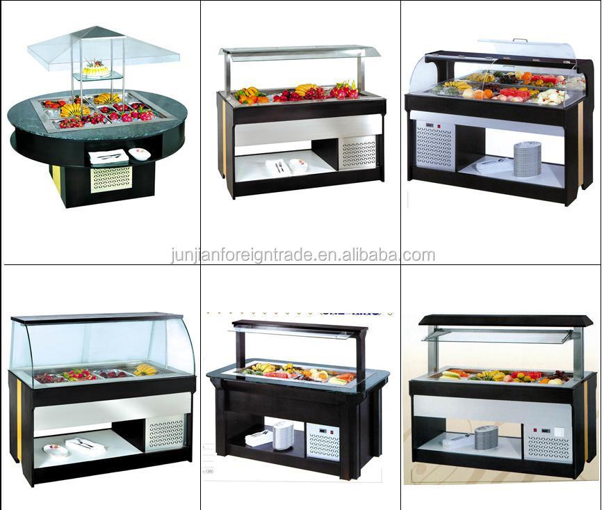 Commercial counter top salad chiller buffet equipment ...