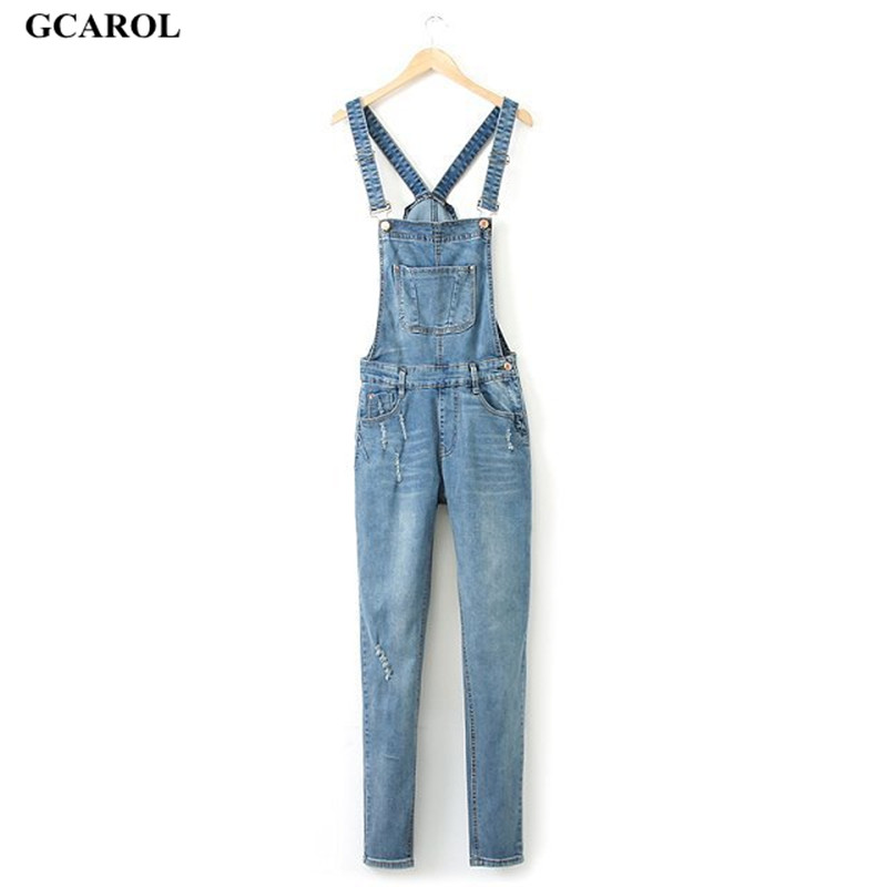 Women Ripped Hole Denim Jumpsuits Ladies Sexy Slim Casual Romper Plus Siz 42 Denim Pencil Overalls