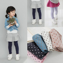 Fall Autumn 2 8Y Girls Baby Toddlers Lovely Polka Dot Leggings Kids Cotton Pants Trousers Freshipping