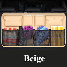 Новейшая автомобильная сумка для хранения на спинку сиденья из искусственной кожи, многофункциональный органайзер для багажника(Китай)