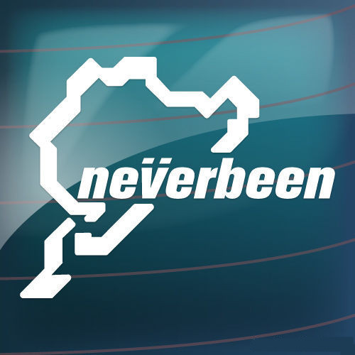 Neverbeen Nurburgring Car Window Bumper Jdm Euro Vw Dub Vinyl Decal