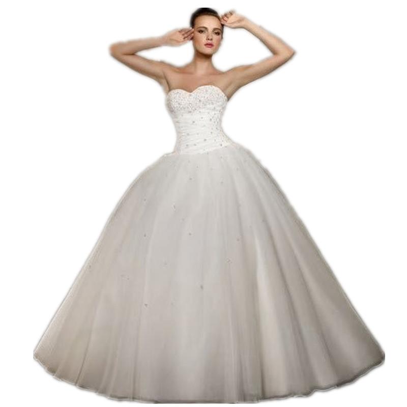 New Arrival Cheap Vestido De Noiva A Line Sweetheart Organza Robe De Mariage Gown Vintage Plus