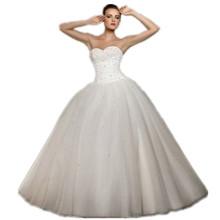 Krásne biele svadobné šaty z Aliexpress