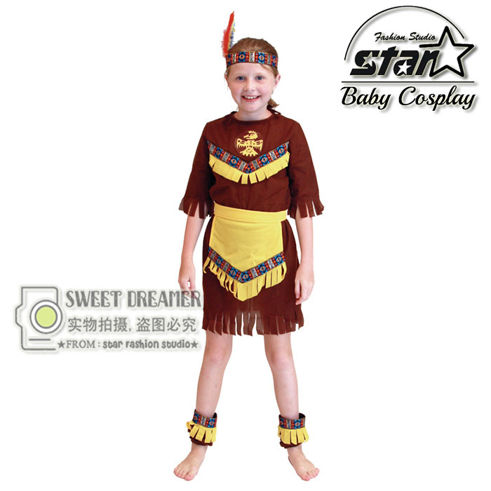 Native American Indian Halloween Cosplay Princess Costume Carnival Festival Role play Girl font b Fancy b