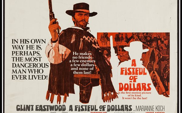A FISTFUL OF DOLLARS western clint eastwood poster Home Decoration Canvas Poster Print