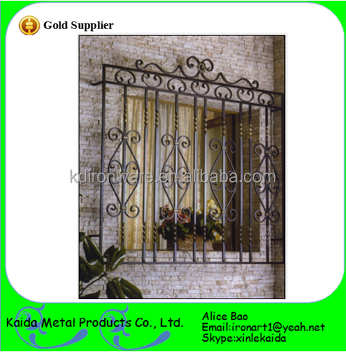 Simple Decorative Wrought Iron Window Grill Designs For