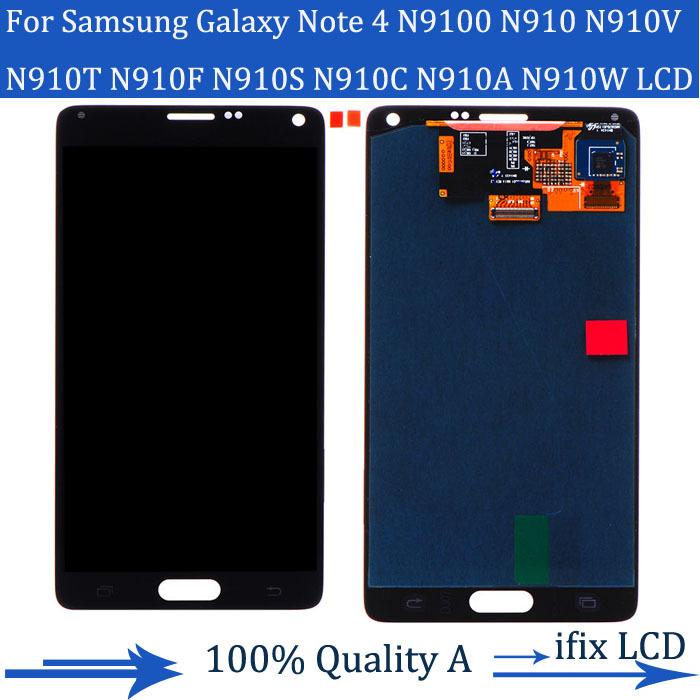 Оригинал дисплей для Samsung Galaxy примечание 4 ЖК N9100 жк-цифровой N910F SM-N910 N910X с сенсорной цифрователем ассамблеи белый серый + инструменты