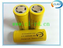 Free shipping 3pcs/lot NCA26650 4200mah 42amp 26650 high power tool battery for e-cig mod