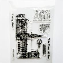 1 шт. Прозрачная силиконовая Печать Ретро Печать авиация башня строительство прозрачные марки офисные принадлежности Марки DIY(Китай)