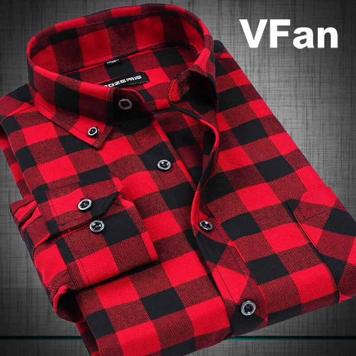 Compra hombres camisas de franela a cuadros online al por
