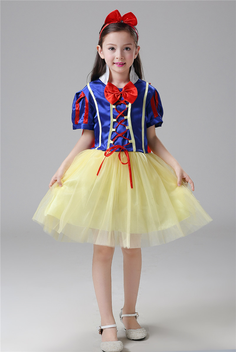 3a65685add3ec 3 PCS Baby Girl Cosplay Party Dress Children Snow White Costume Children  Infant Fancy Halloween Princess Costumes for Girls